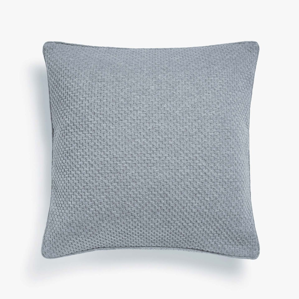 TEXTURED KNIT CUSHION COVER