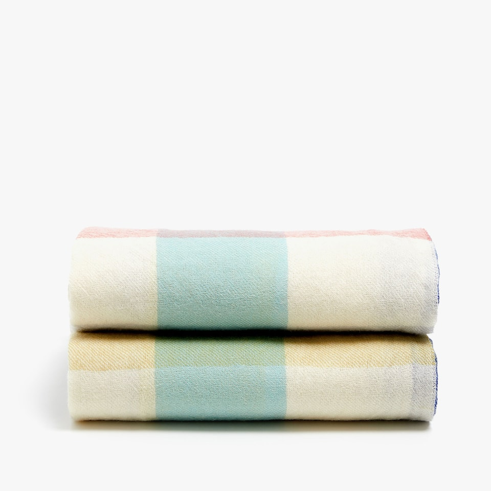 CHECKED PASTEL WOOL BLANKET