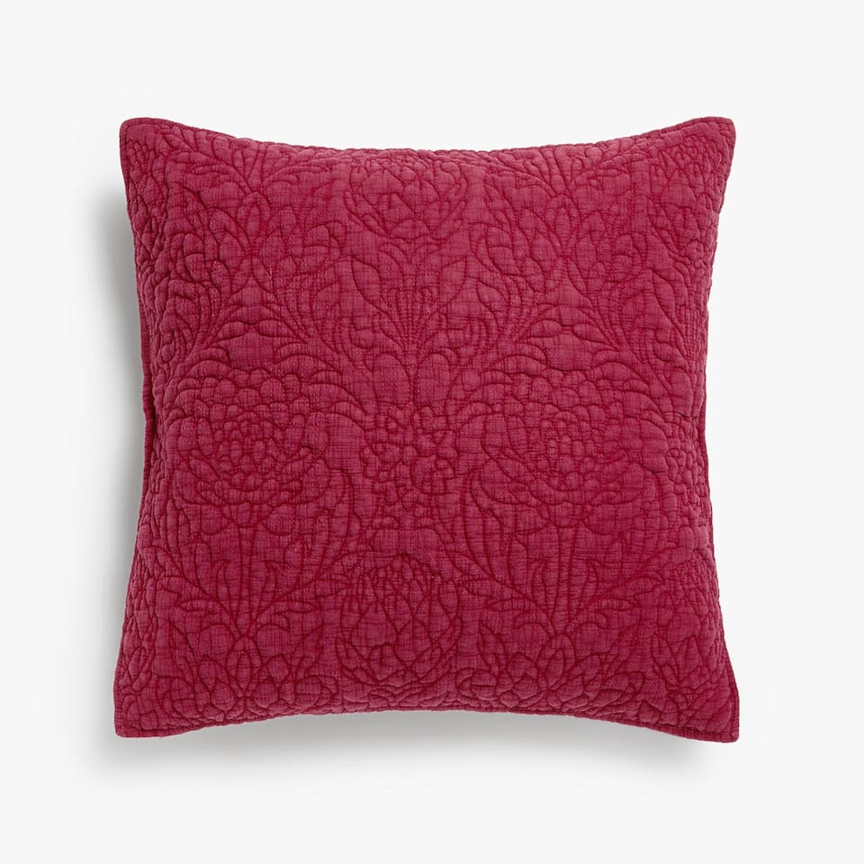 TEXTURED FADED COTTON CUSHION COVER