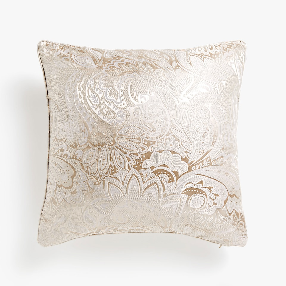JACQUARD PAISLEY DESIGN CUSHION COVER