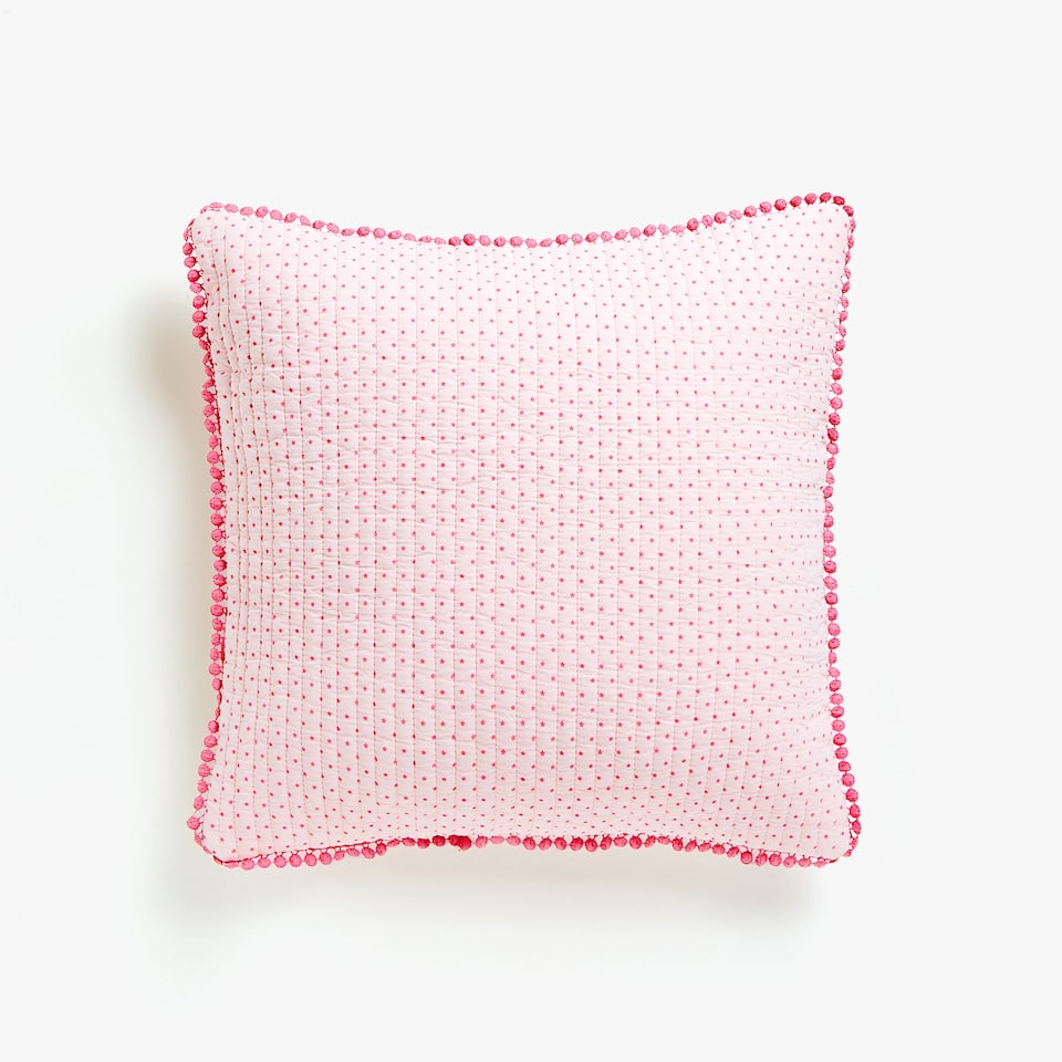 LITTLE STAR PRINT WASHED COTTON CUSHION COVER