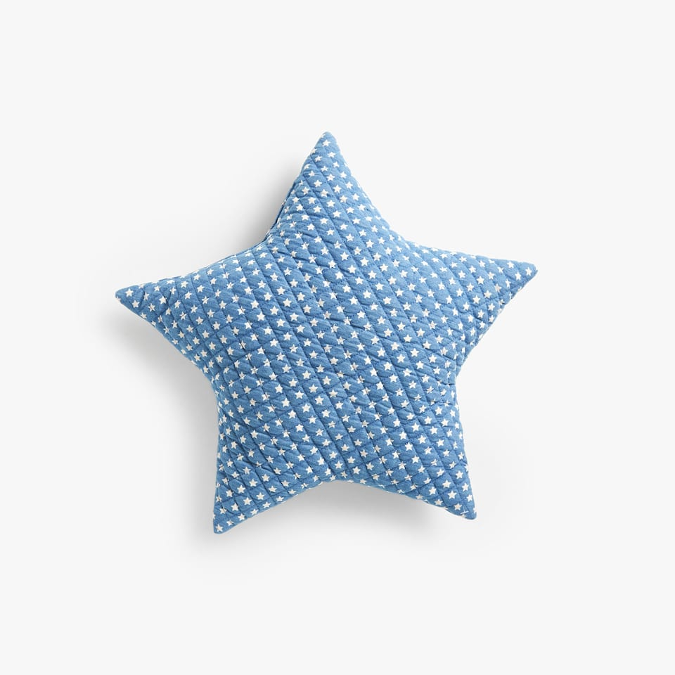 LITTLE STARS PRINT DENIM CUSHION