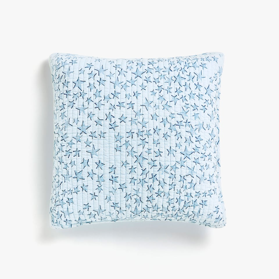 STARS PRINT COTTON CUSHION COVER