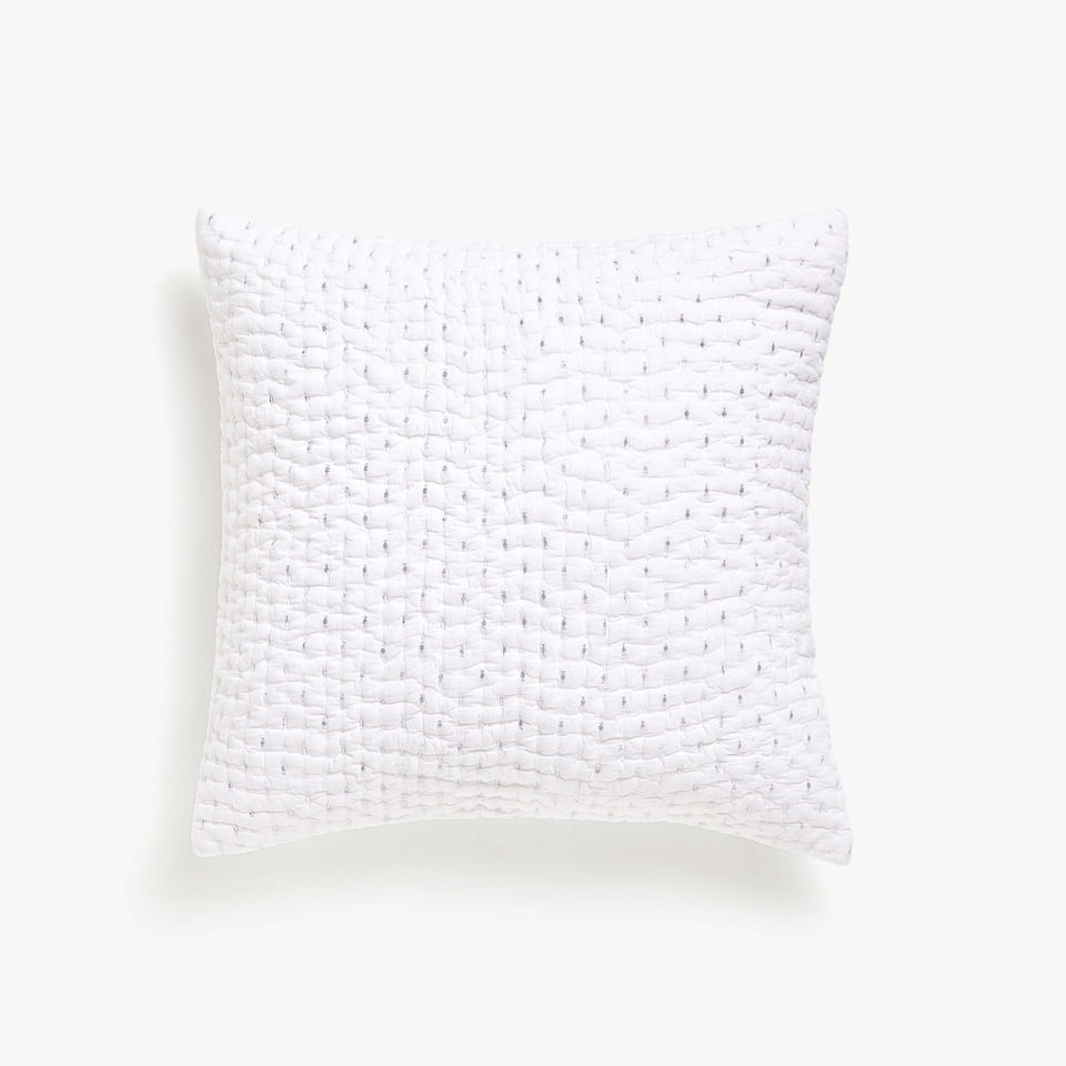 COTTON JACQUARD CUSHION COVER