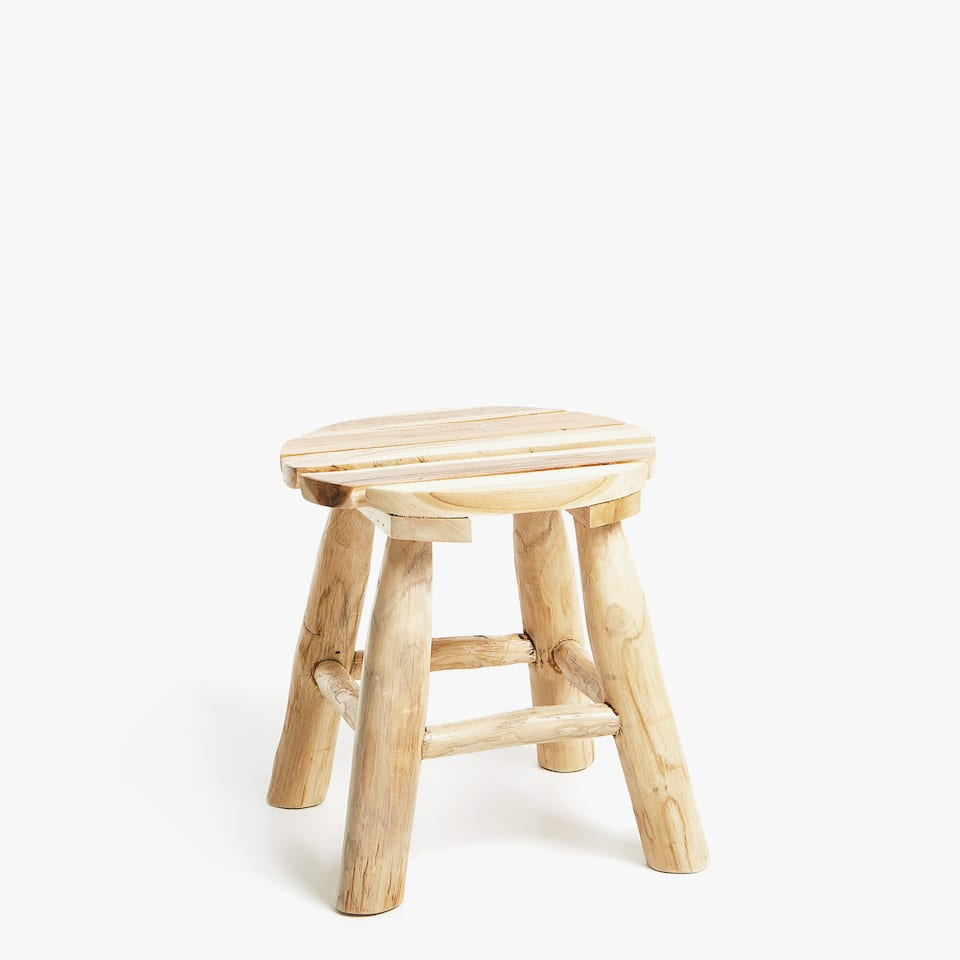TABOURET TECK NATUREL
