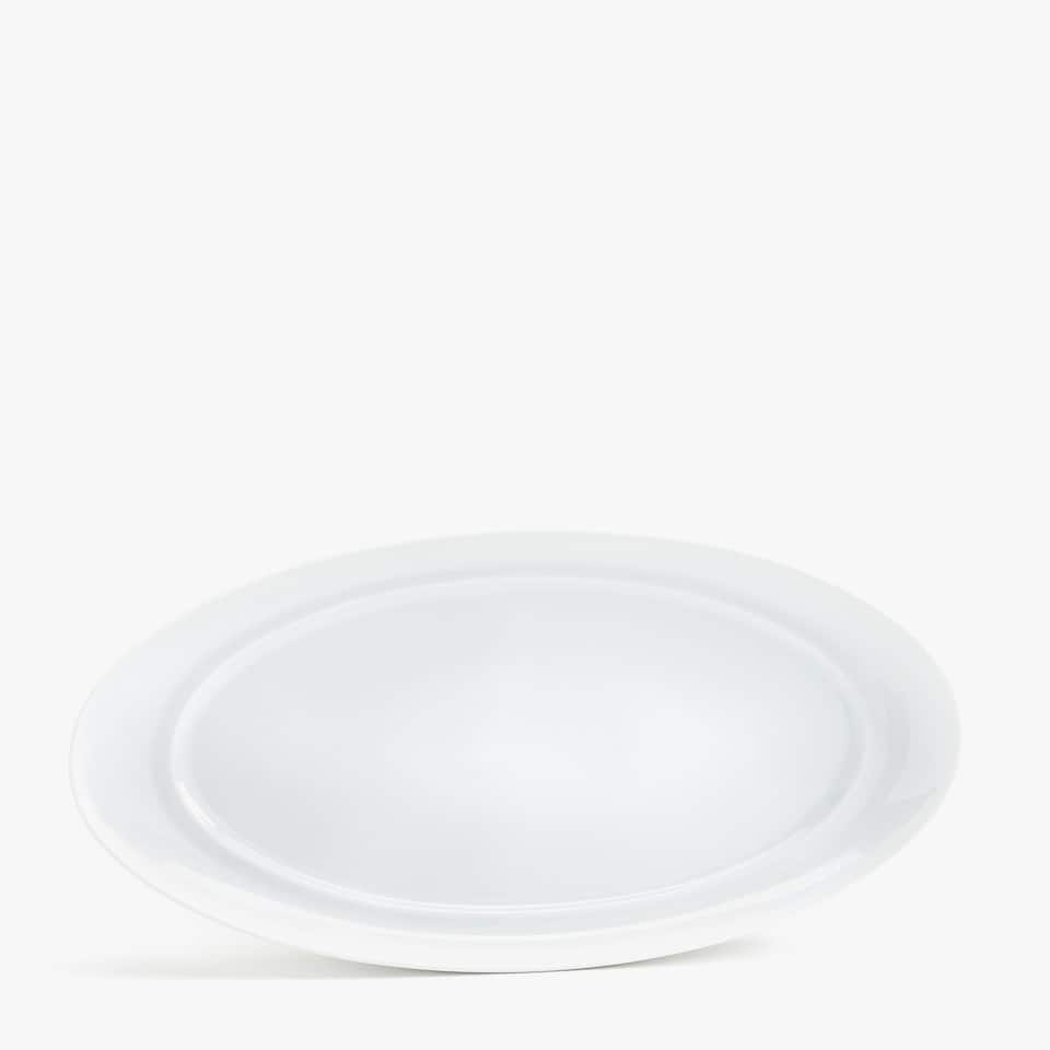 PLAIN PORCELAIN OVAL SERVING DISH