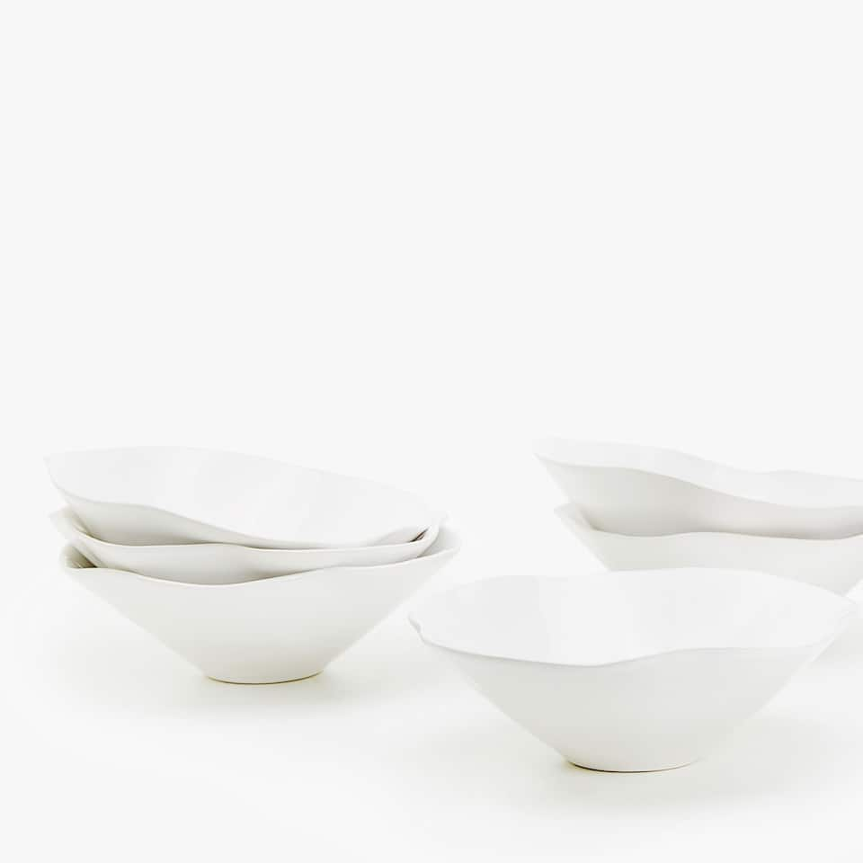 ORGANICALLY-SHAPED EARTHENWARE BOWL