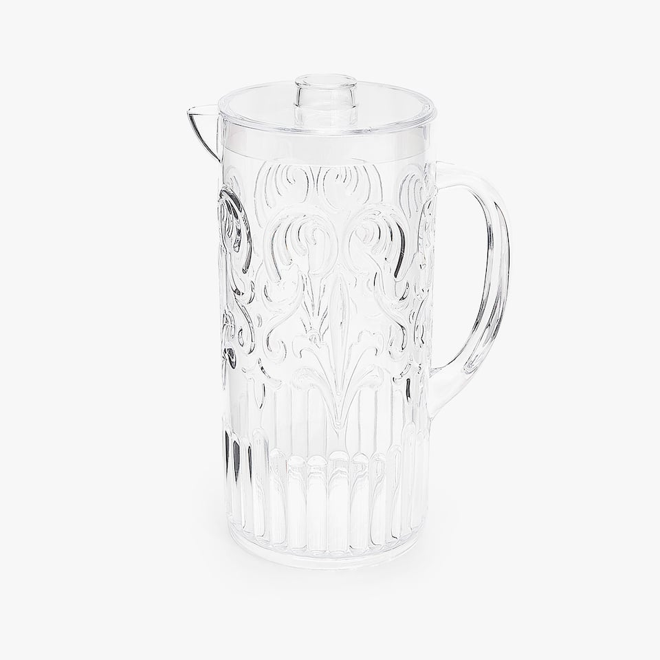RAISED DESIGN CLEAR PITCHER