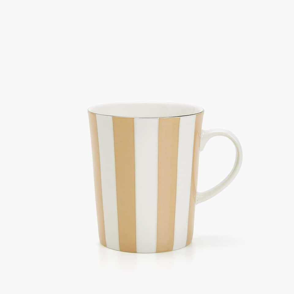 TASSE BICOLORE FILET DORÉ