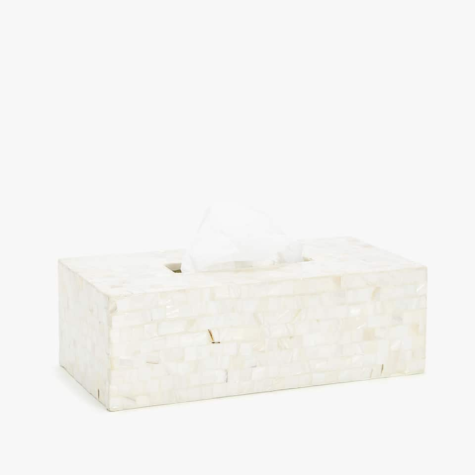 MOTHER-OF-PEARL TISSUE BOX