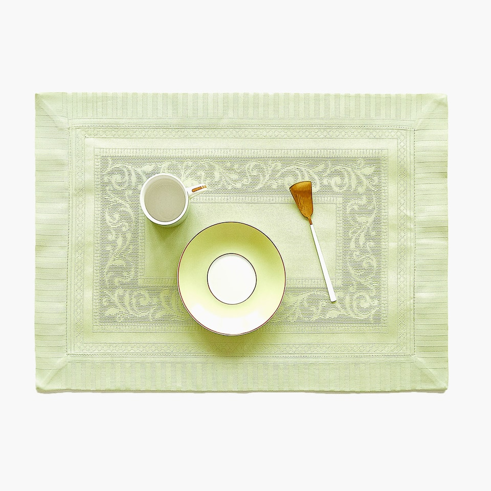 COTTON JACQUARD SATEEN PLACEMAT