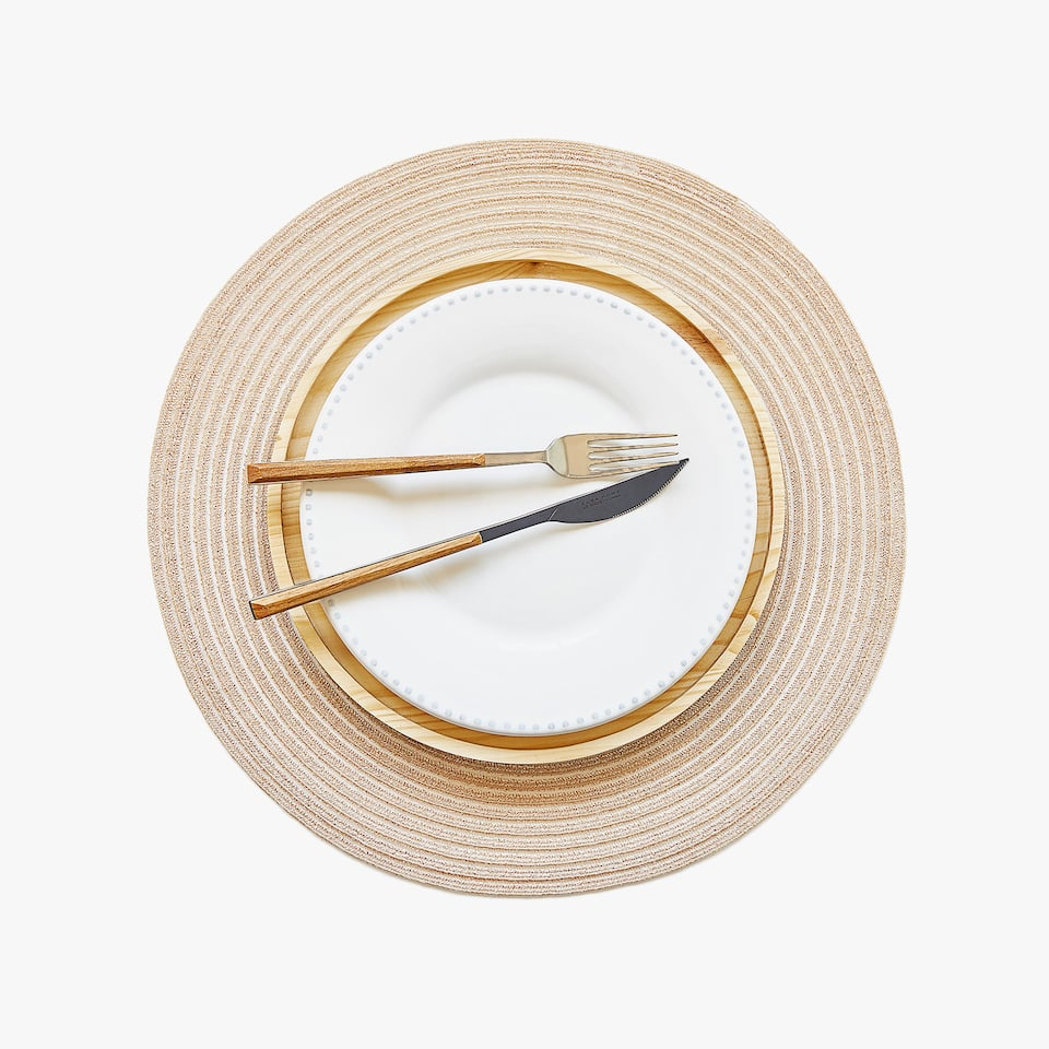 ROUND PLACEMAT WITH METALLIC THREAD (SET OF 2)