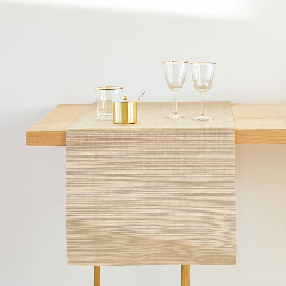 ストライププラスチックテーブルランナー