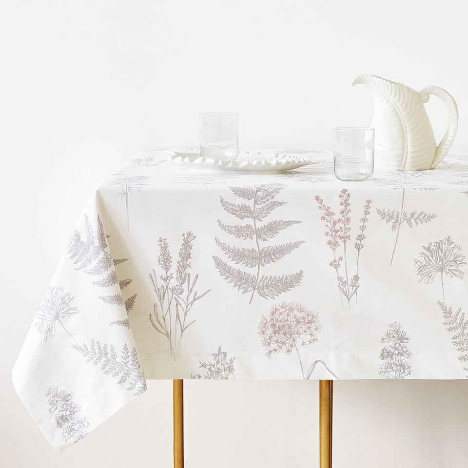 BOTANIC PRINT COTTON TABLECLOTH
