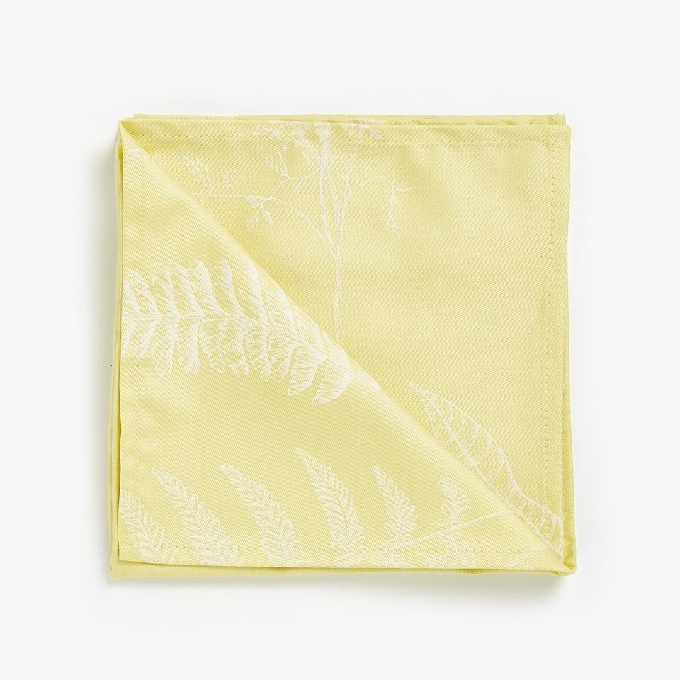 MONOCHROME PRINTED COTTON NAPKINS (SET OF 4)