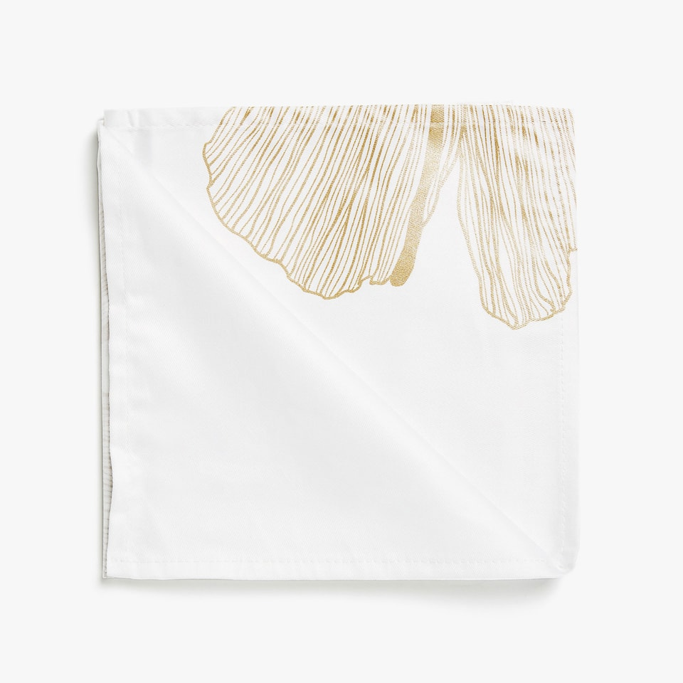 LEAF PRINT COTTON NAPKINS (SET OF 4)