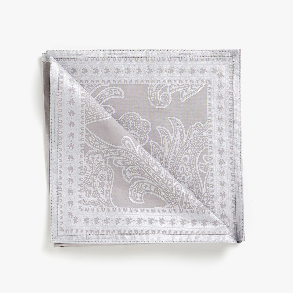METALLIC DAMASK PRINT COTTON NAPKINS (SET OF 4)