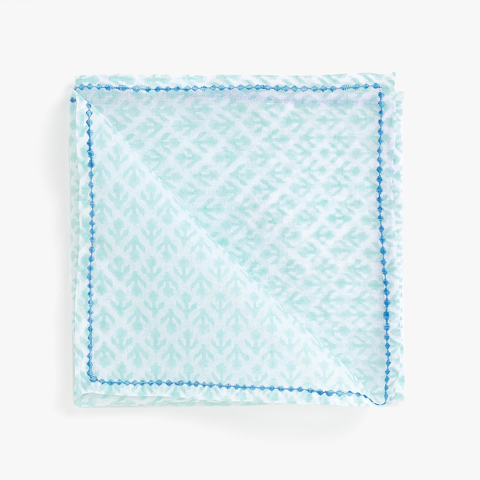 EMBROIDERED COTTON ORGANZA NAPKINS (SET OF 4)