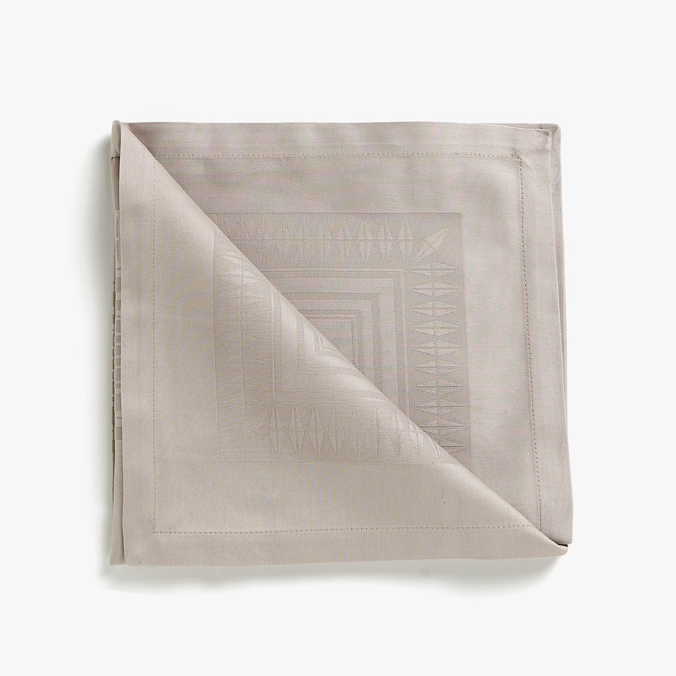 SERVIETTES DE TABLE COTON SATIN JACQUARD (LOT DE 4)