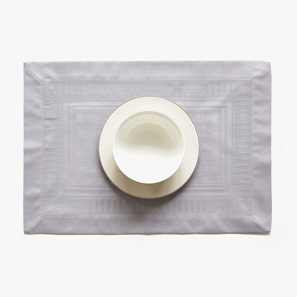 SET DE TABLE COTON SATIN JACQUARD