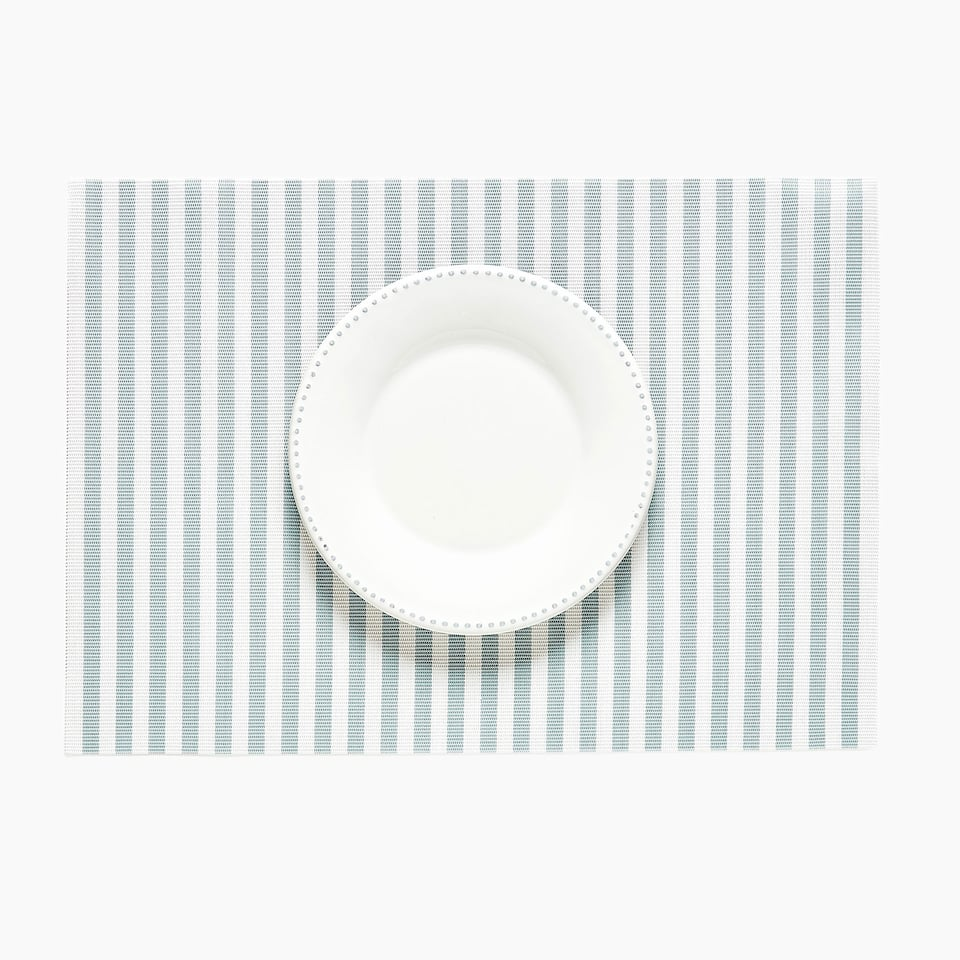 SET DE TABLE PLASTIQUE RAYURES (LOT DE 2)