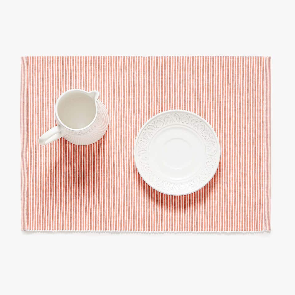 SET DE TABLE COTON CÔTELÉ (LOT DE 2)