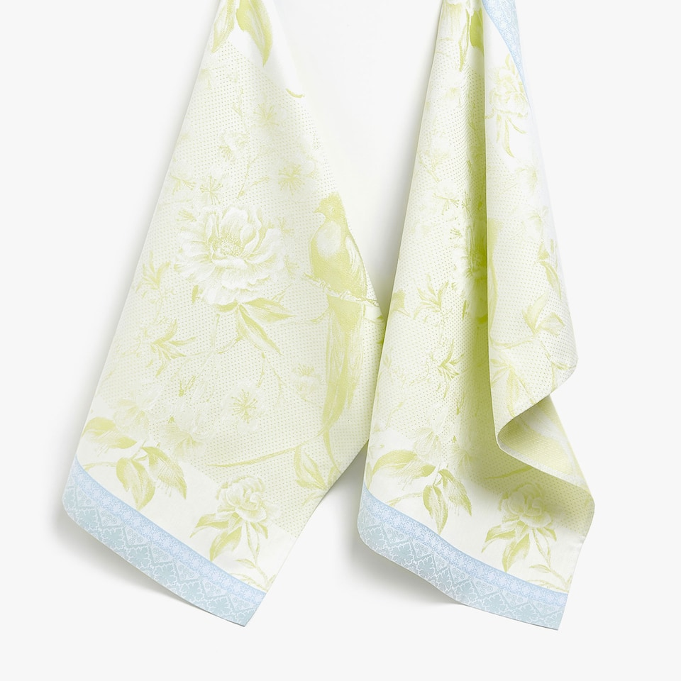 JACQUARD LEAVES TEA TOWEL (SET OF 2)