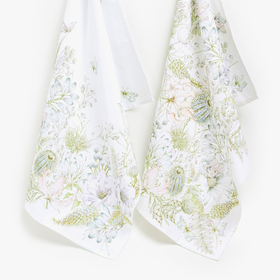 FLORAL COTTON TEA TOWEL (SET OF 2)