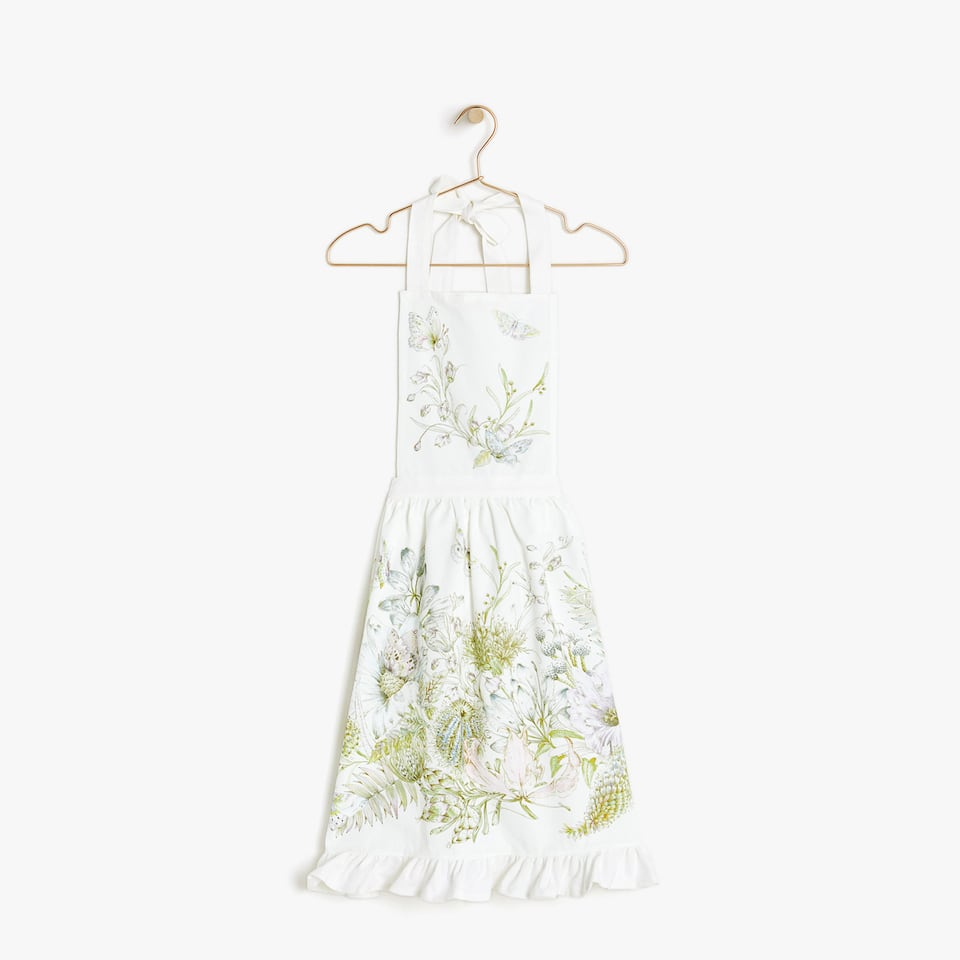 FLORAL COTTON APRON