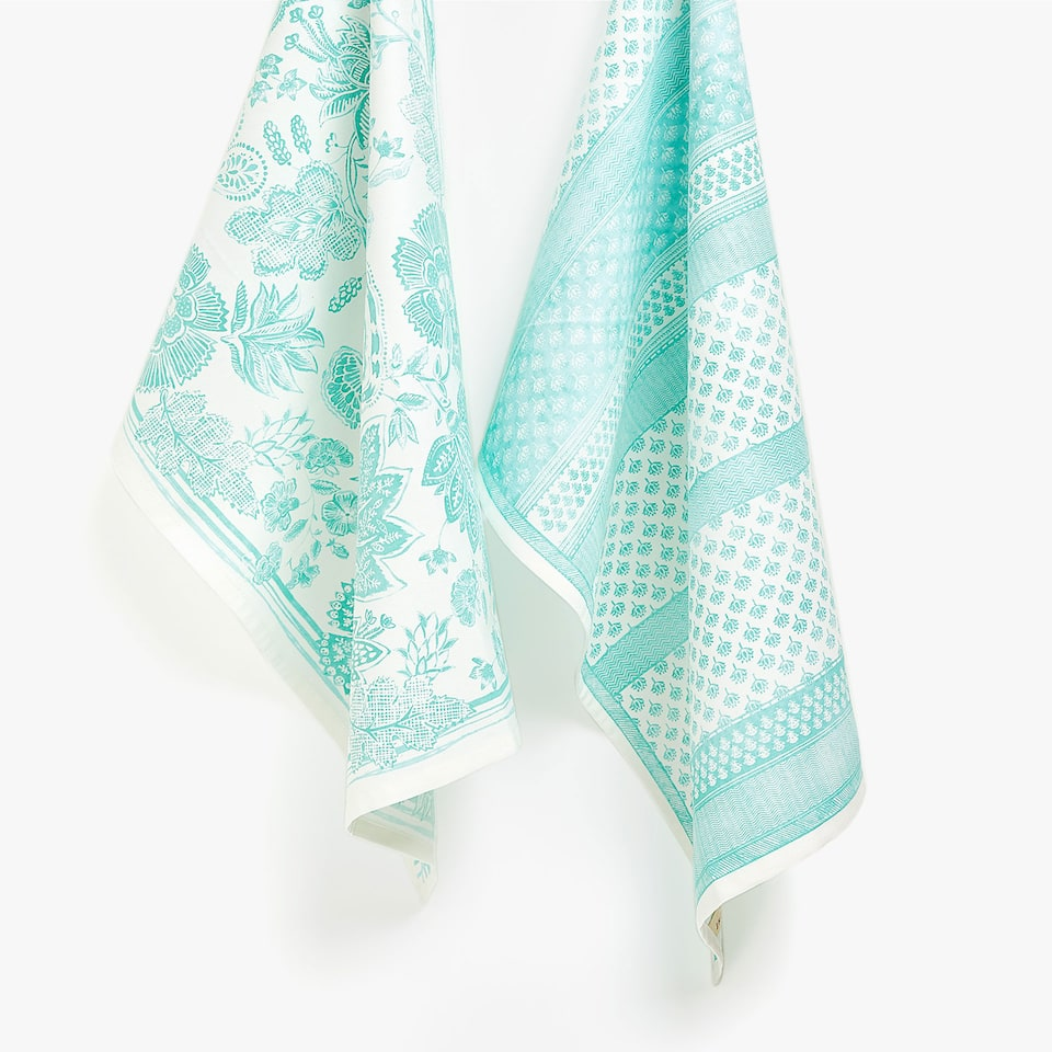 LEAVES COTTON TEA TOWEL (SET OF 2)