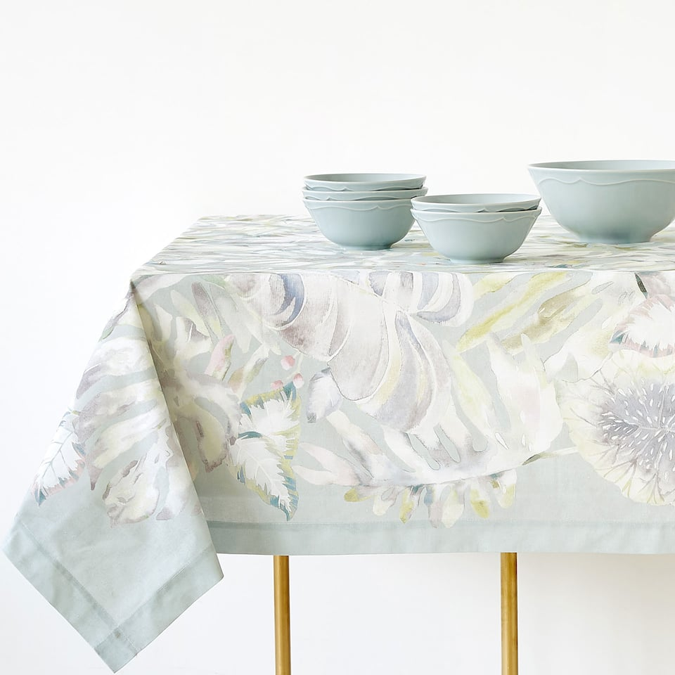 BOTANIC DIGITAL PRINT COTTON TABLECLOTH