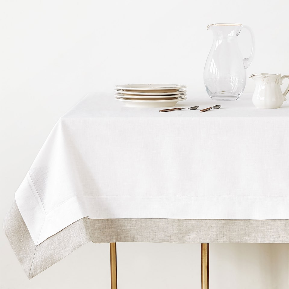 DOUBLE LAYER LINEN TABLECLOTH