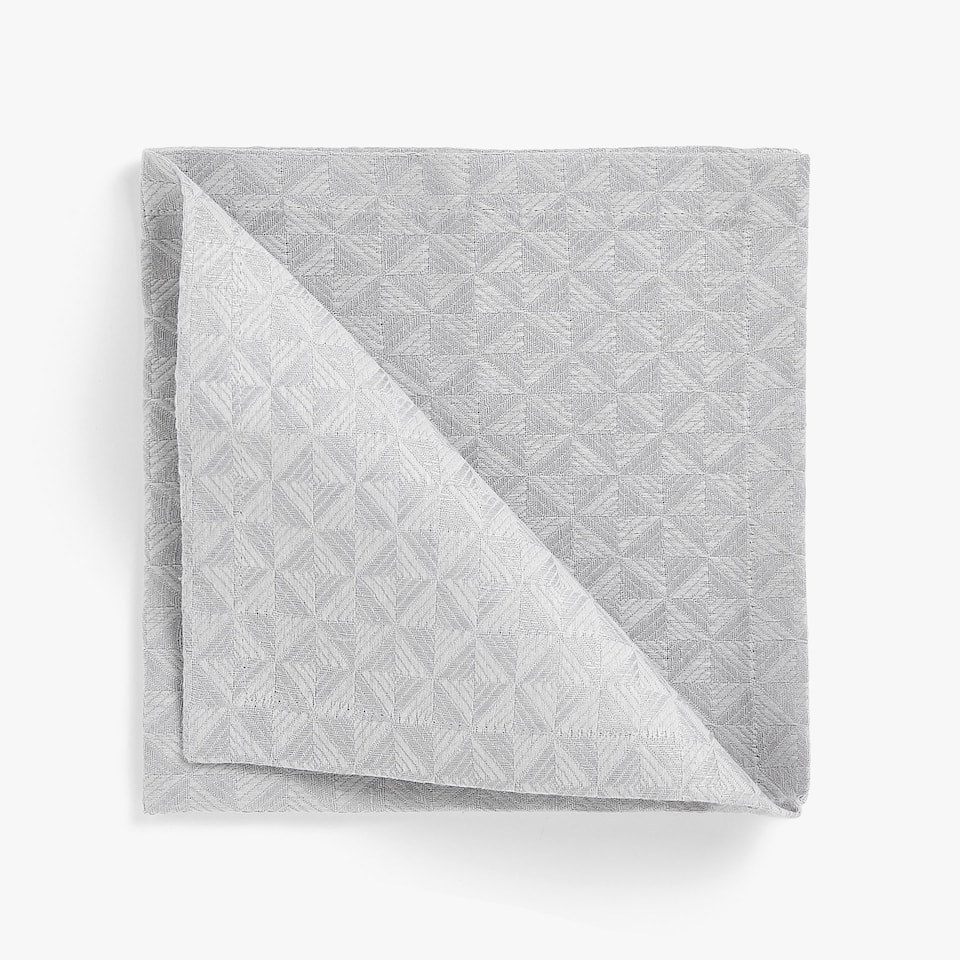 DOUBLE LAYER TEXTURED LINEN AND COTTON NAPKINS (SET OF 4)