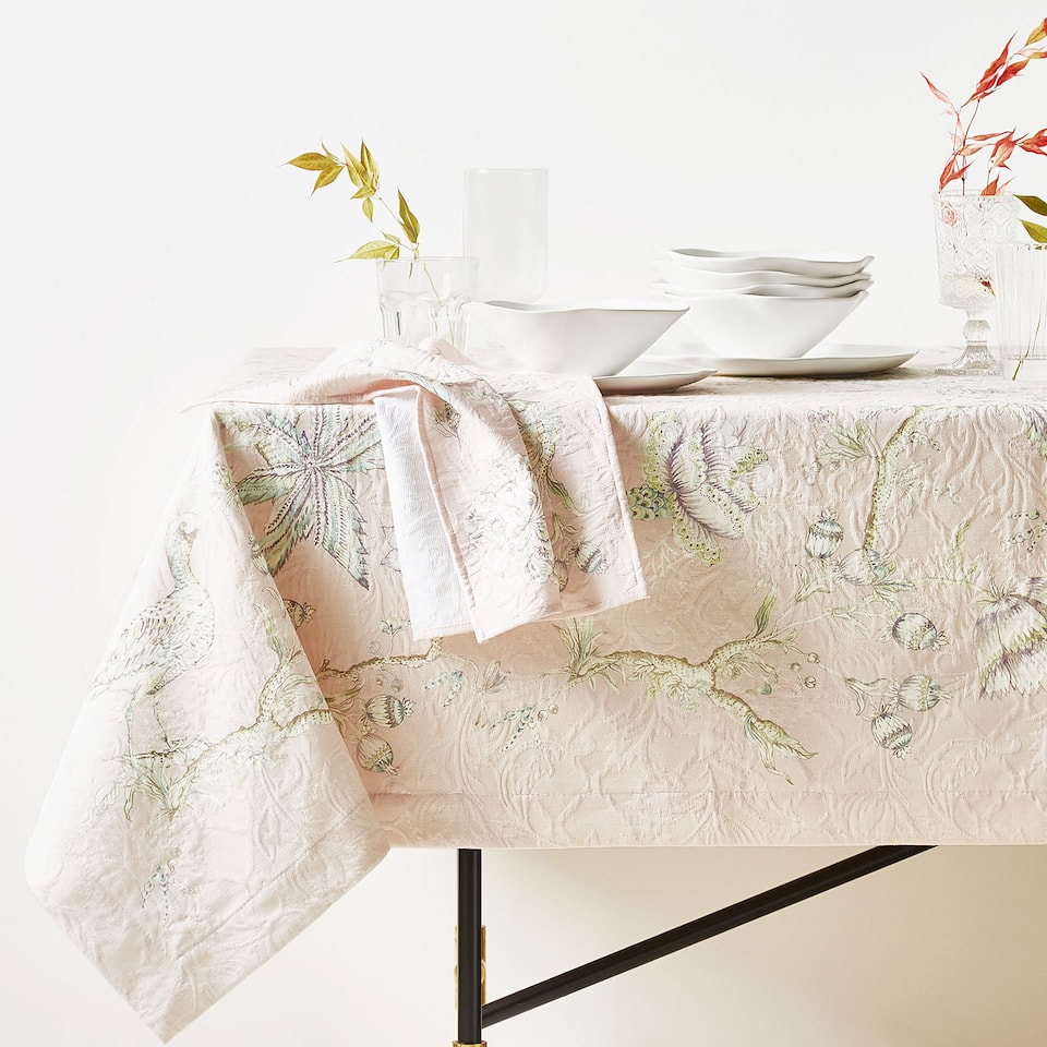 FORREST PRINT COTTON JACQUARD TABLECLOTH