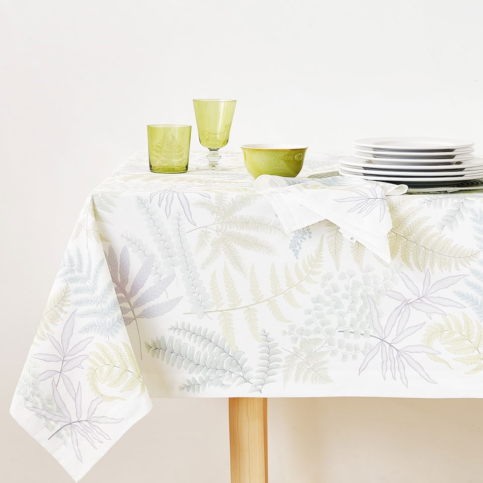 FERN DIGITAL PRINT COTTON TABLECLOTH