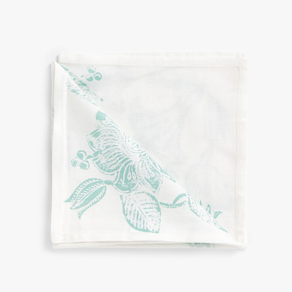 MONOCHROME PRINT COTTON NAPKINS (SET OF 4)