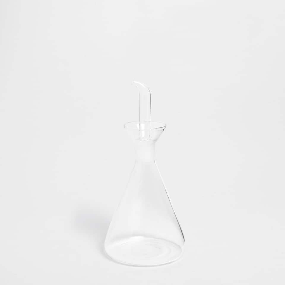 TRANSPARENT BOROSILICATE GLASS CRUET