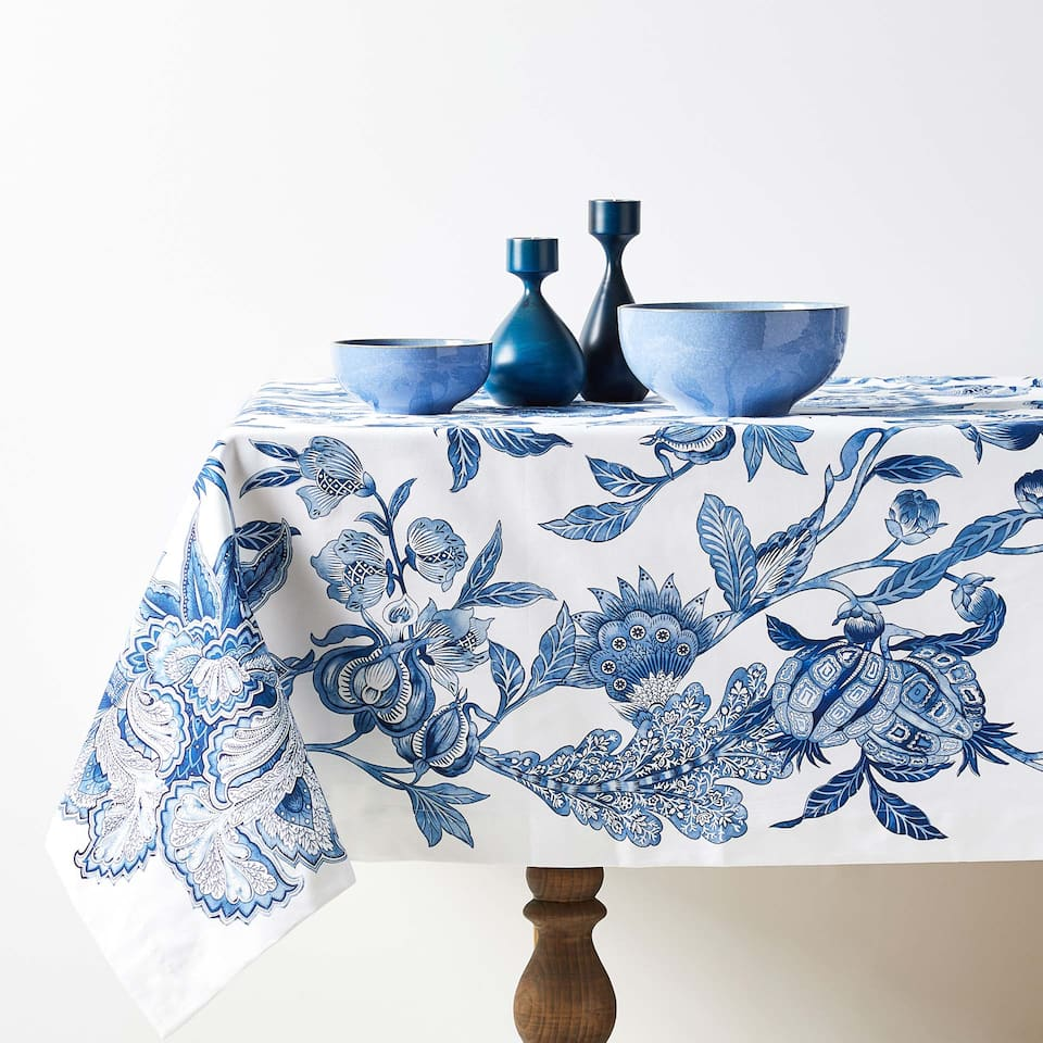 VEGETATION DIGITAL PRINT COTTON TABLECLOTH