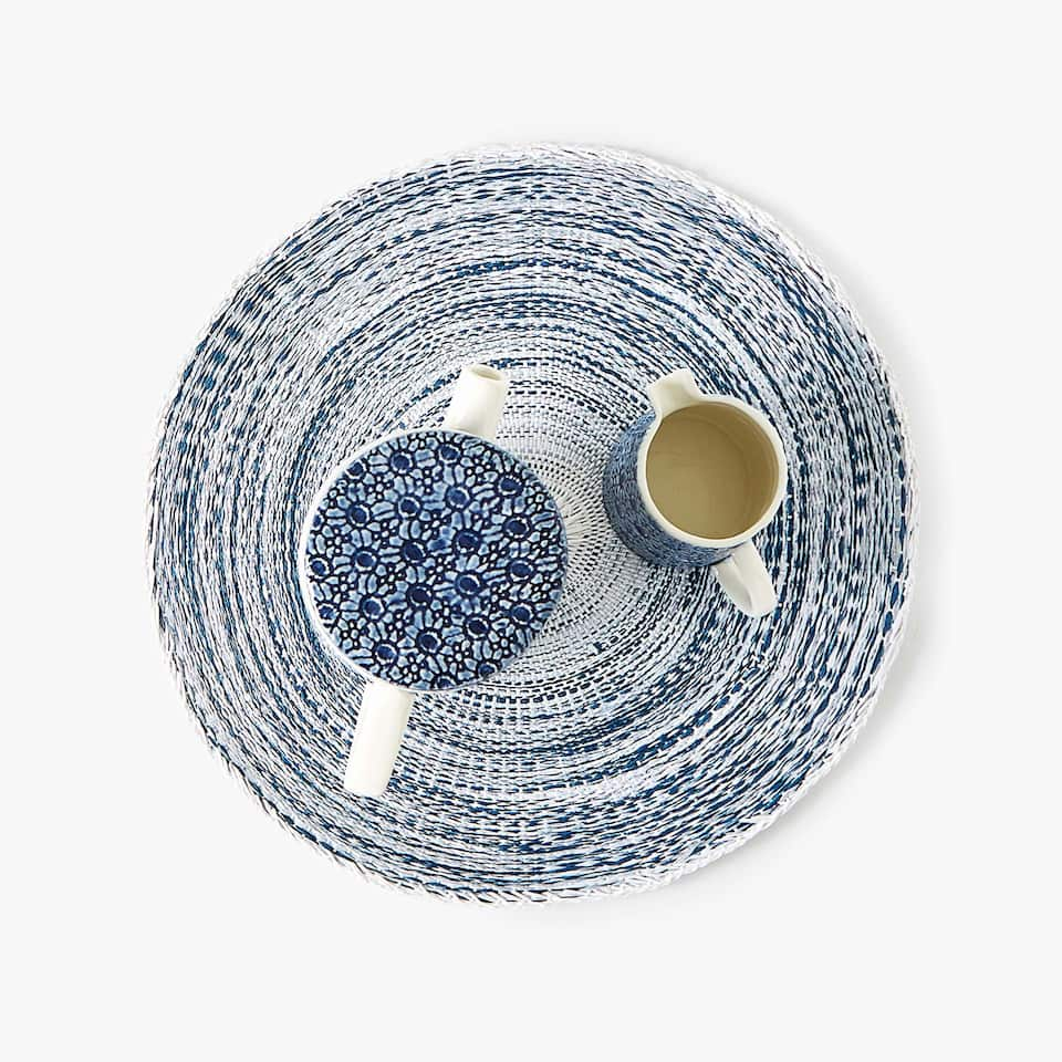 ROUND TWO-TONE PAPER PLACEMAT (SET OF 2)