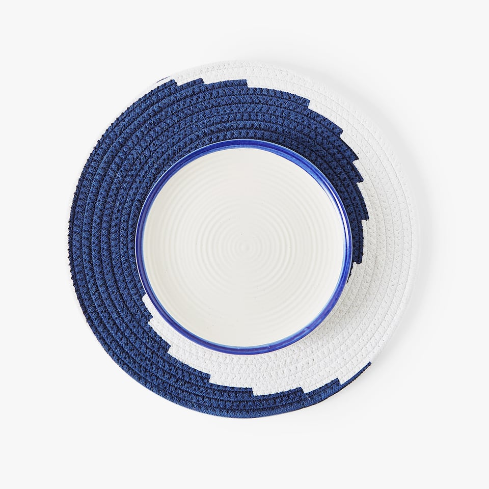 SET DE TABLE COTON IMPRIMÉ SPIRALE