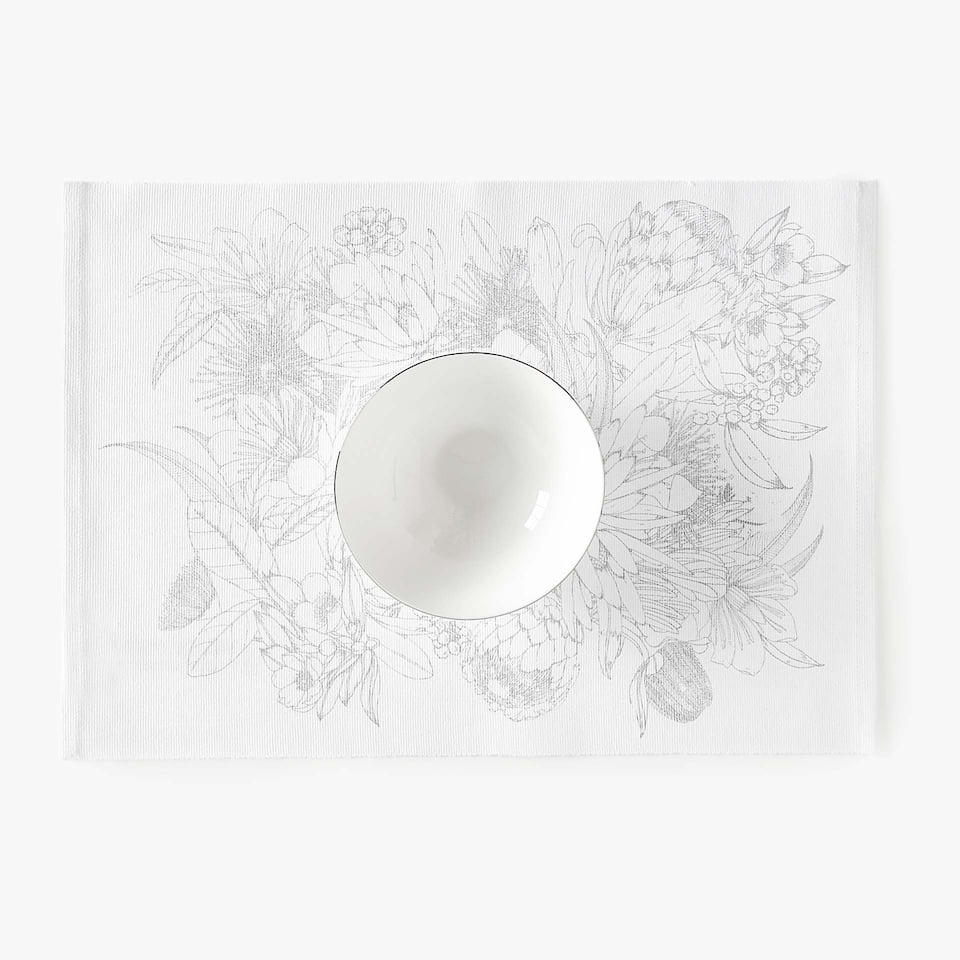 BOTANIC PRINT COTTON PLACEMAT (SET OF 2)