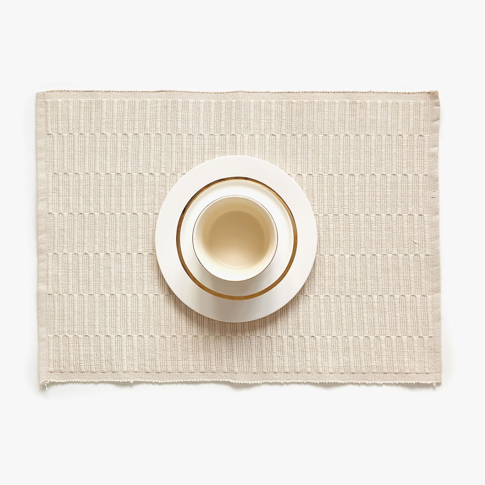 TEXTURED COTTON PLACEMAT (SET OF 2)