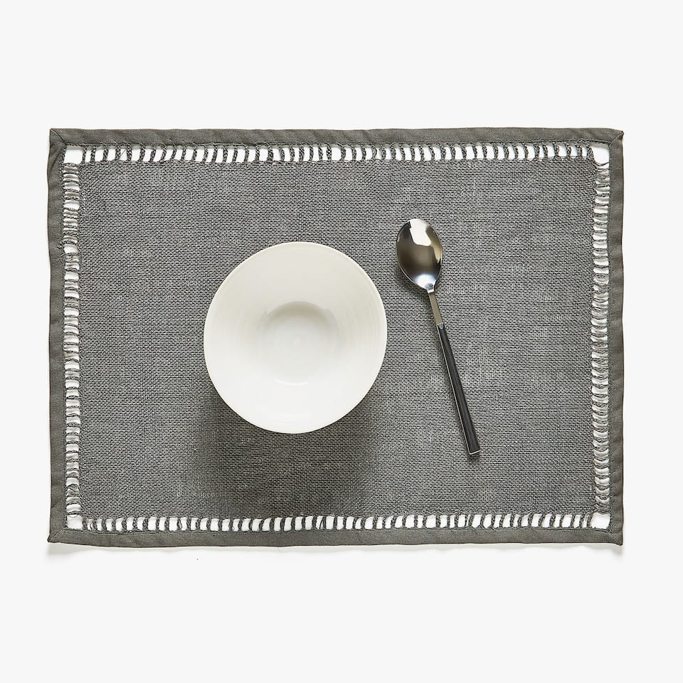 JUTE HEMSTITCHED PLACEMAT (SET OF 2)