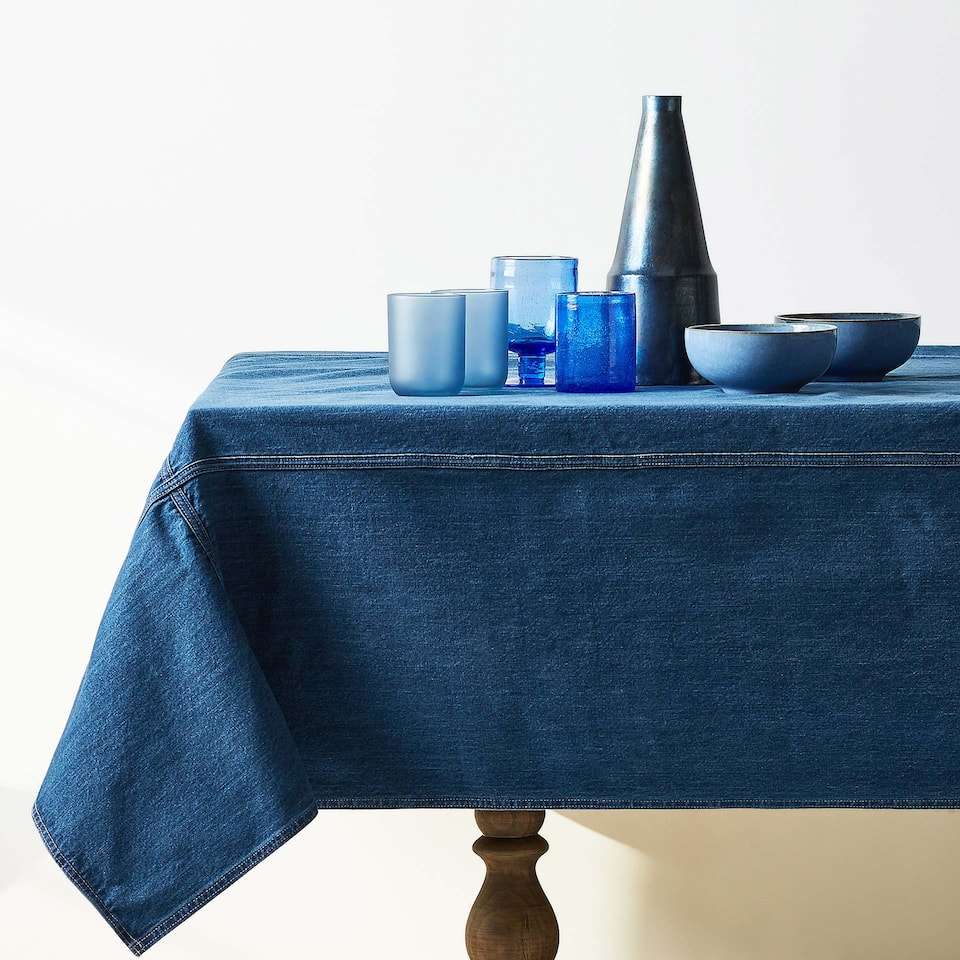 COTTON DENIM TABLECLOTH
