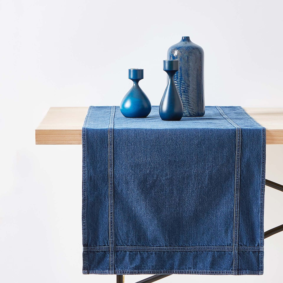 COTTON DENIM TABLE RUNNER