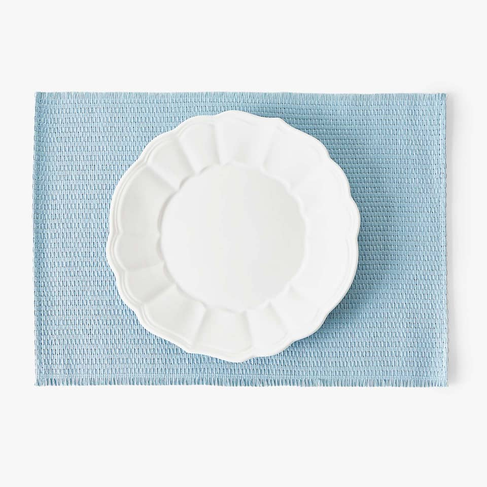 SET DE TABLE PAPIER TRESSÉ (LOT DE 2)