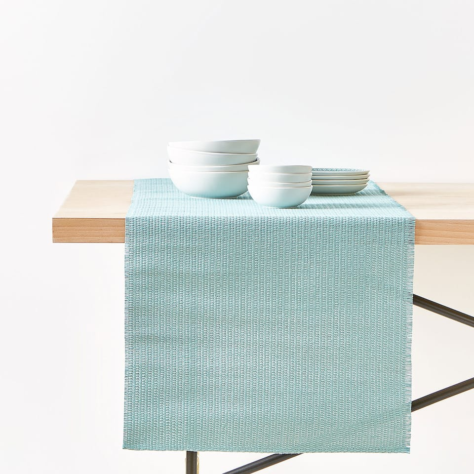 CROSSWEAVE PAPER TABLE RUNNER