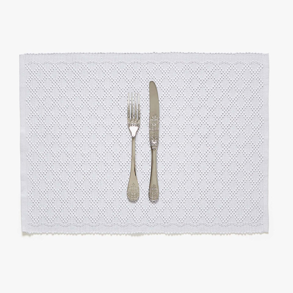 SET DE TABLE COTON TEXTURE LOSANGES (LOT DE 2)