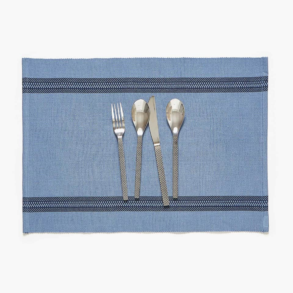 COTTON PLACEMAT WITH DOUBLE BORDER (SET OF 2)