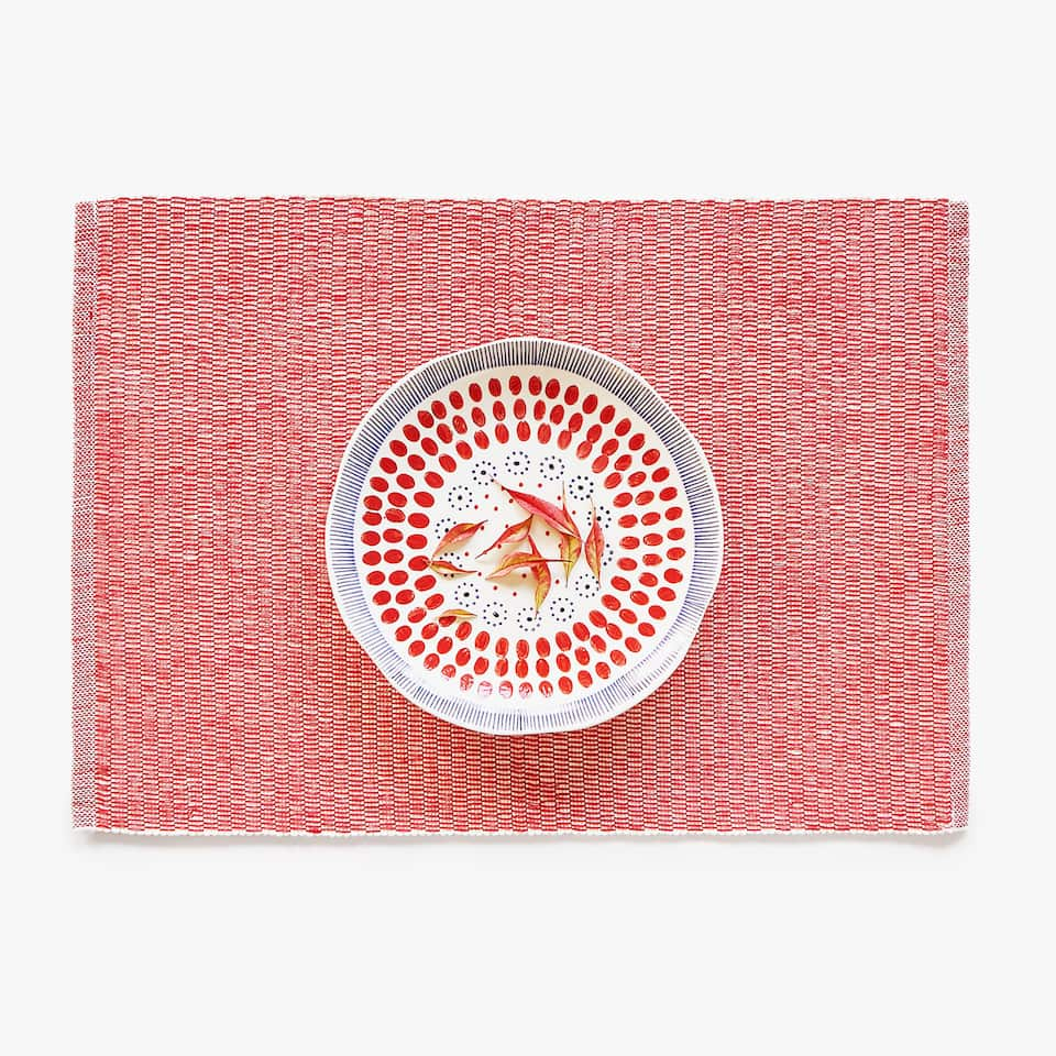 THICK WEAVE COTTON PLACEMAT (SET OF 2)